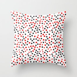 Casino Pattern | Gambling Luck Money Poker Cards Throw Pillow