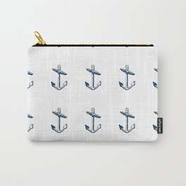 Nautical Marine Anchor Sailor Seamless Pattern Carry-All Pouch