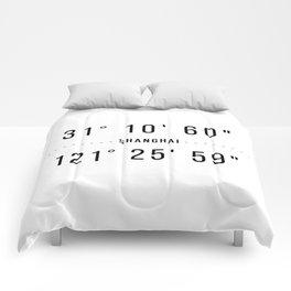 Shanghai Coordinates Minimalistic Comforters