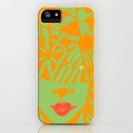 Patterned Headpiece iPhone Case