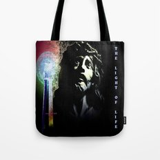 Jesus Christ The Light Of Life By Annie Zeno Tote Bag