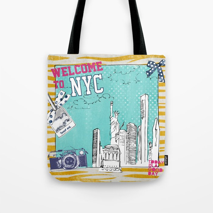 New York Pillow And Other Products Tote Bag