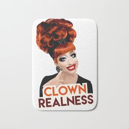 """Clown Realness"" Bianca Del Rio, RuPaul's Drag Race Queen Bath Mat"