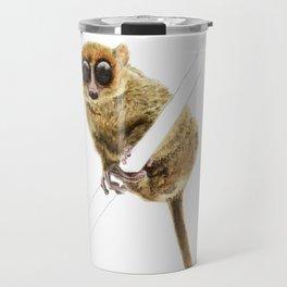 Mouse Lemur Perched on a Branch Travel Mug