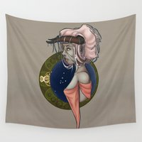 taurus Wall Tapestries featuring Taurus by Symbiosis