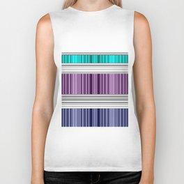The colorful stripes . Biker Tank
