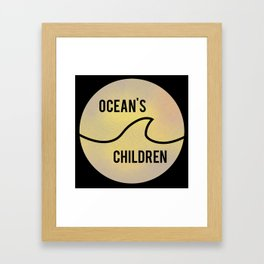 Ocean's Children Logo Framed Art Print