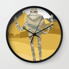the cursed mummy in egypt Wall Clock