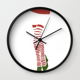 Miss Santa Legs Wall Clock