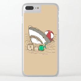 Sandy Beach Shark Clear iPhone Case