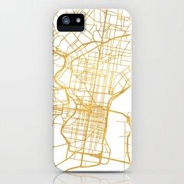 PHILADELPHIA PENNSYLVANIA CITY STREET MAP ART iPhone Case