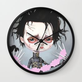 Edward Scissorhands Is Sad Wall Clock