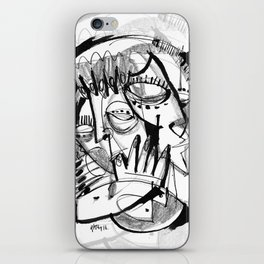 Here for Each Other - b&w iPhone Skin