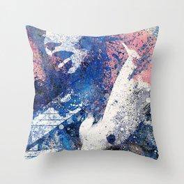Imperium (spray paint graffiti erotic painting) Throw Pillow