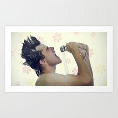shower rockstar Art Print