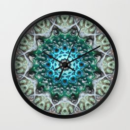 Concentric Blue Glass Wall Clock