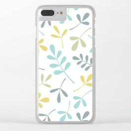 Assorted Leaf Silhouettes Color Mix Clear iPhone Case