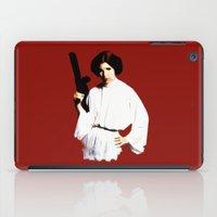 princess leia iPad Cases featuring Princess Leia by Ms. Givens