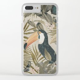 Toucan And Hummingbirds Clear iPhone Case