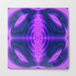 Thought Nexus Abstract Metal Print