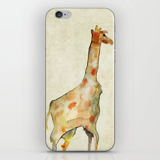 old camouflage giraffe iPhone & iPod Skin