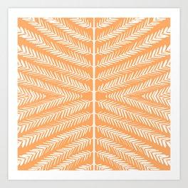 SOFT ORANGE Art Print