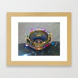 Waterdrop Art Framed Art Print