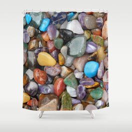 Healing Crystals Shower Curtain