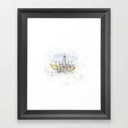 Mizzou Columns Splash Framed Art Print