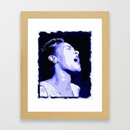 Billie in Blues (Billie Holiday) Framed Art Print