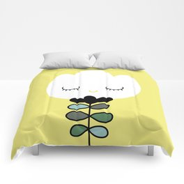 simply flower Comforters