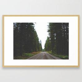 Lake Cushman Roads Framed Art Print