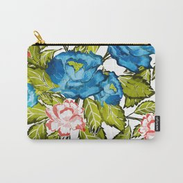 Indigo Bloom Carry-All Pouch