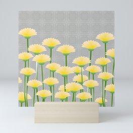 Yellow flower field Mini Art Print