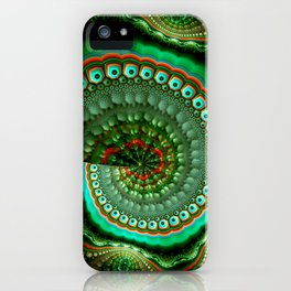 Pretty eyes, swirling pattern abstract iPhone Case