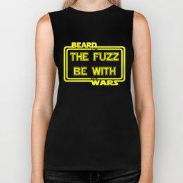 Beard Wars May The Fuzz Be With You Men's Funny Beard Sci-fi T-shirt. Biker Tank