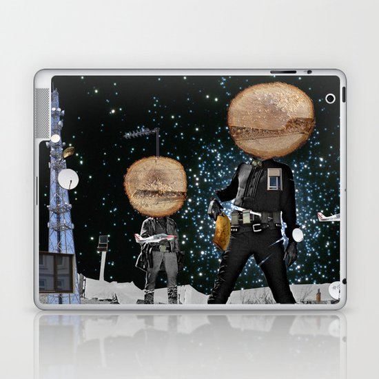 Final Shot in Space Collage Laptop & iPad Skin