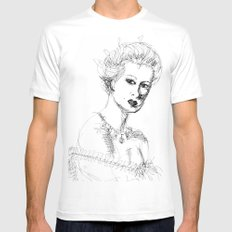 sketch White Mens Fitted Tee SMALL