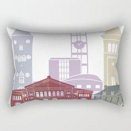 Aarhus skyline poster Rectangular Pillow