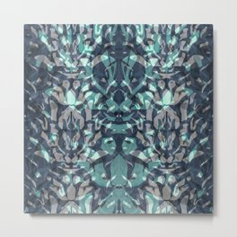 Abstract blue black pattern. Metal Print