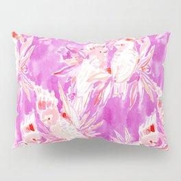 COCKATUDE Pink Cockatoo Watercolor Pillow Sham