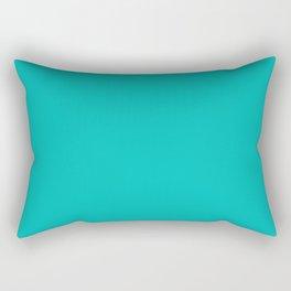 Classic Aqua Blue Solid Color Rectangular Pillow