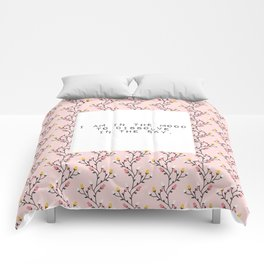 I am in the mood to dissolve  in the sky - V. Woolf Collection Comforters