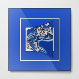 blue boy runnin' (sq wide frame) Metal Print