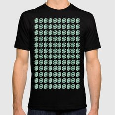 Mint Money Repeat Mens Fitted Tee Black MEDIUM