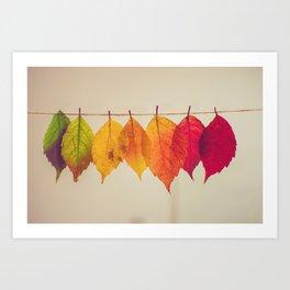 Rainbow Leafs (Color) Art Print