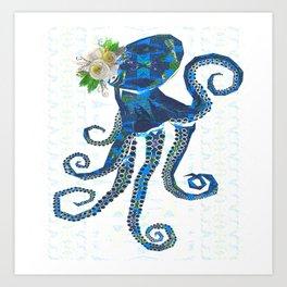 Vintage Victorian Octopus Art Print
