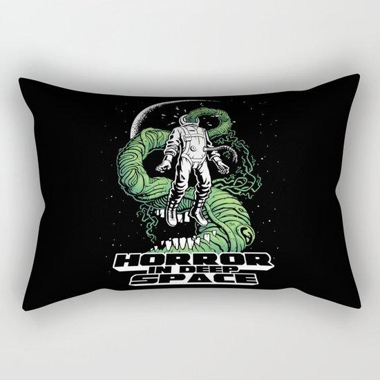 Horror In Deep Space Rectangular Pillow