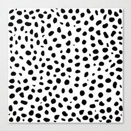 Black And White Cheetah Print Canvas Print