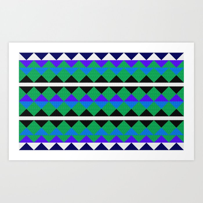 African colorful geometric pattern. Art Print